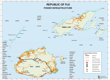 Our Customer Care Centres Key Locations Fiji Electricity Authority - Republic of fiji map
